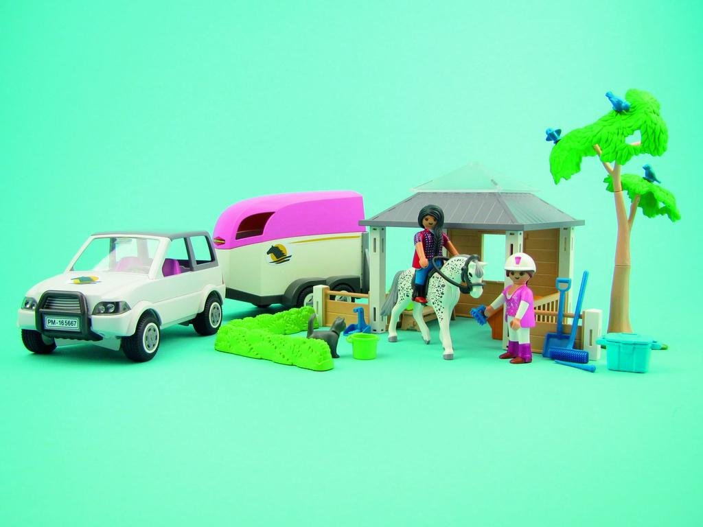 Playmobil 5667.0/reitstall avec Chevaux Transporter Jouet