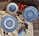 222 Fifth Lyria Blue 16-piece Dinnerware Set Service for 4 & Amazon.com | 222 Fifth Lyria 16-Piece Dinnerware Sets Teal ...