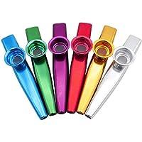 Metalen Kazoo Muziekinstrumenten, 6 STKS Kazoo Sets Voor Kinderen Muziekliefhebbers, Goede Metgezel voor Gitaar, Ukelele…