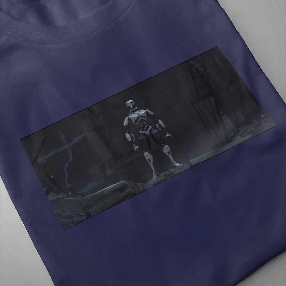 SHENGN Mens Designed Breathable Love Death Robots Logo Short Sleeve Funny T-Shirt Black