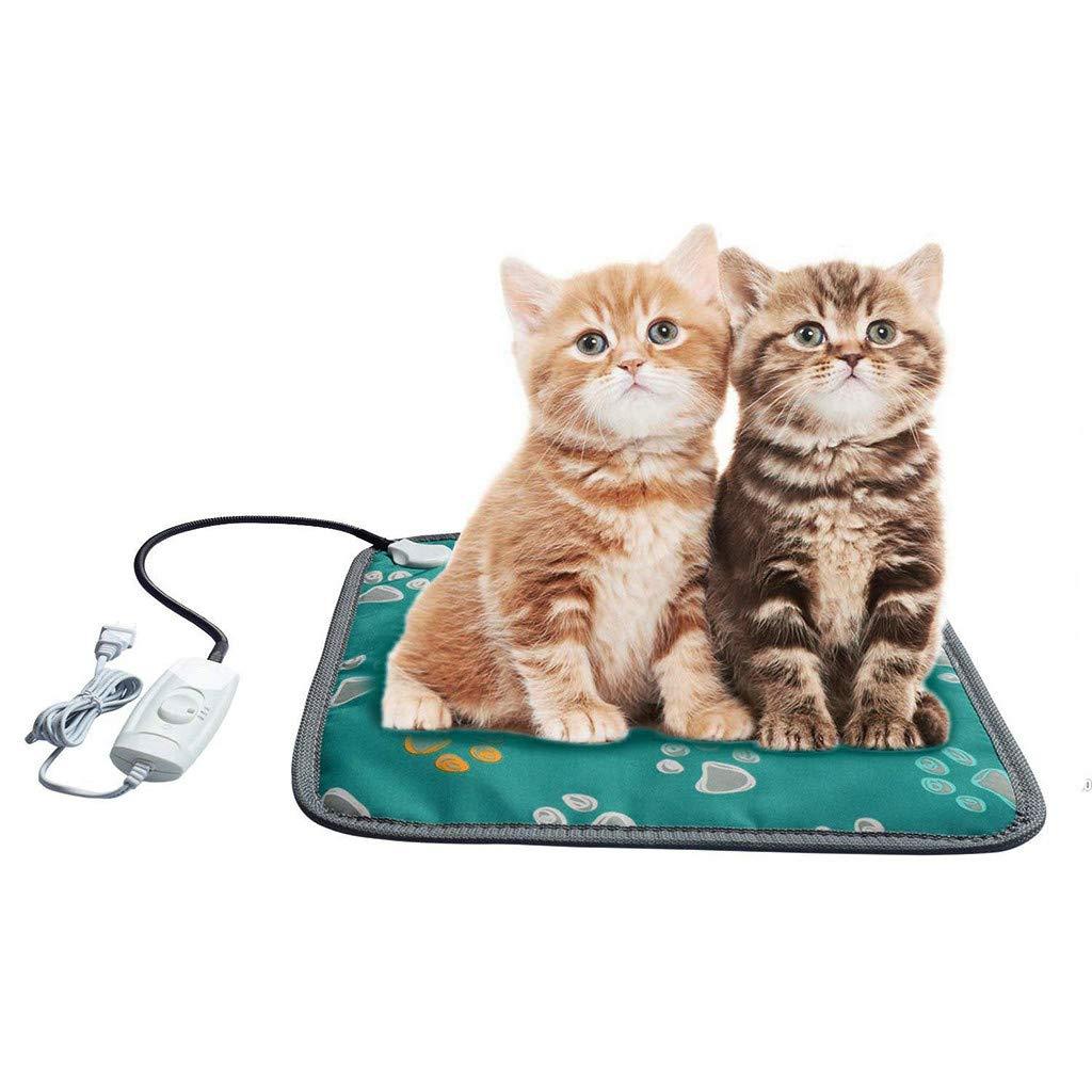 ZTY66® Pet Heating Pad Dogs Cats Electric Blanket Heater Mat Warming Waterproof Heated Beds-45x45cm