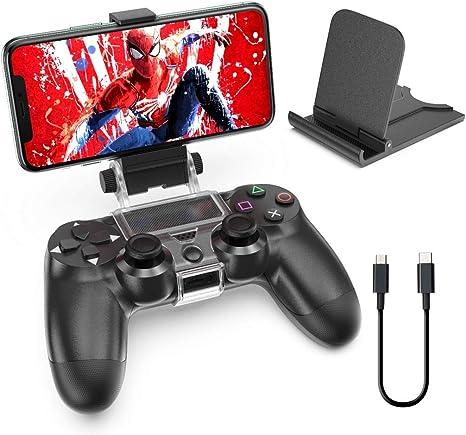 OIVO Soporte Smartphone para Mando PS4, Soporte Clip para teléfono ...