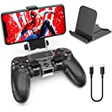 OIVO PS4 Controller Clip Mount, Mobile Phone Clamp Bracket Holder with Adjustable Stand Compatible with Dualshock 4 /PS4 Slim