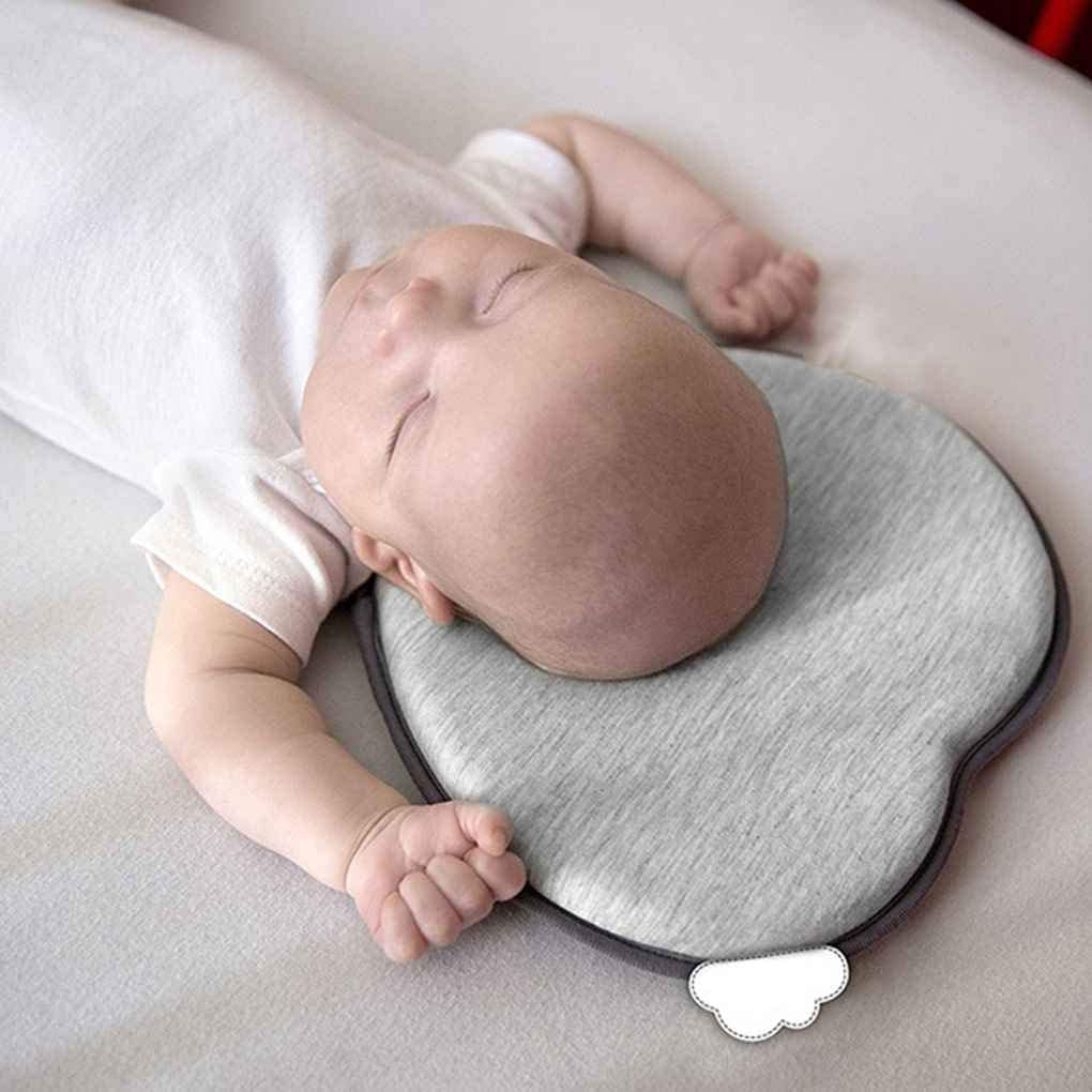 Deinbe Neugeborenes Baby-Herz-Kissen Orthop/ädische Kissen-Kissen-weiche Stereotype S/äuglingskopfkissen ShapingGrau