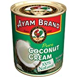 Ayam Brand Coconut Cream | 100% Natural | High Quality | Halal & Healthier Choice | Full of Flavour | 100% Fresh Ripe Coconuts | Plant-Based Milk | Non-Dairy | No Preservatives or Additives - 270ml