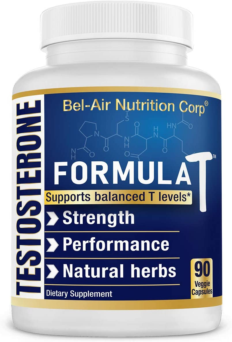 Bel-Air Formula T – Natural Testosterone Booster – Supports Muscle Growth, boosts Stamina libido with Increased Endurance.