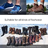 Traction Cleats Ice Snow Grips Crampons Shoes Boots Anti Slip 18 Stainless Steel Spikes Safe Protect for Walking Hiking Fishing Jogging Climbing Mountaineering New Upgraded L