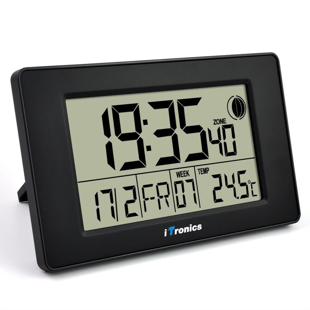 itronics horloge radio pilote numrique alarmesommeil grand cran lcd avec compte