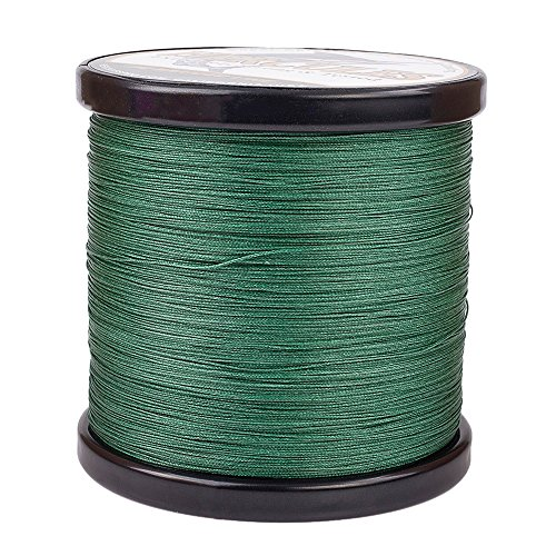 HERCULES Super Cast 1000M 1094 Yards Braided Fishing Line 50 LB Test for Saltwater Freshwater PE Braid Fish Lines Superline 8 Strands - Green, 50LB (22.7KG), 0.37MM ()