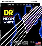 DR Strings NWE-10 DR NEON Electric Guitar Strings, Medium, White