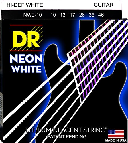 DR Strings NWE-10 DR NEON Electric Guitar Strings, Medium, W