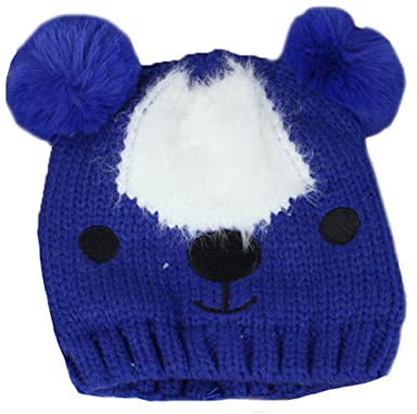 e4a6df4a3a2 Amazon.com  ZEHAT Cute Bear Baby Hat Knitted Wool Crochet Hat Baby ...