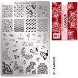 """NEW** MOYRA STAMPING PLATE """"L'AMOUR"""" HIGH QUALITY STAMPING PLATE"""