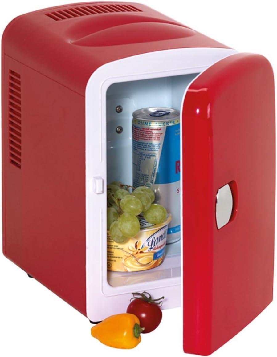Frigorífico mini rojo con conector de 12 V y 240 V Hot and Cool