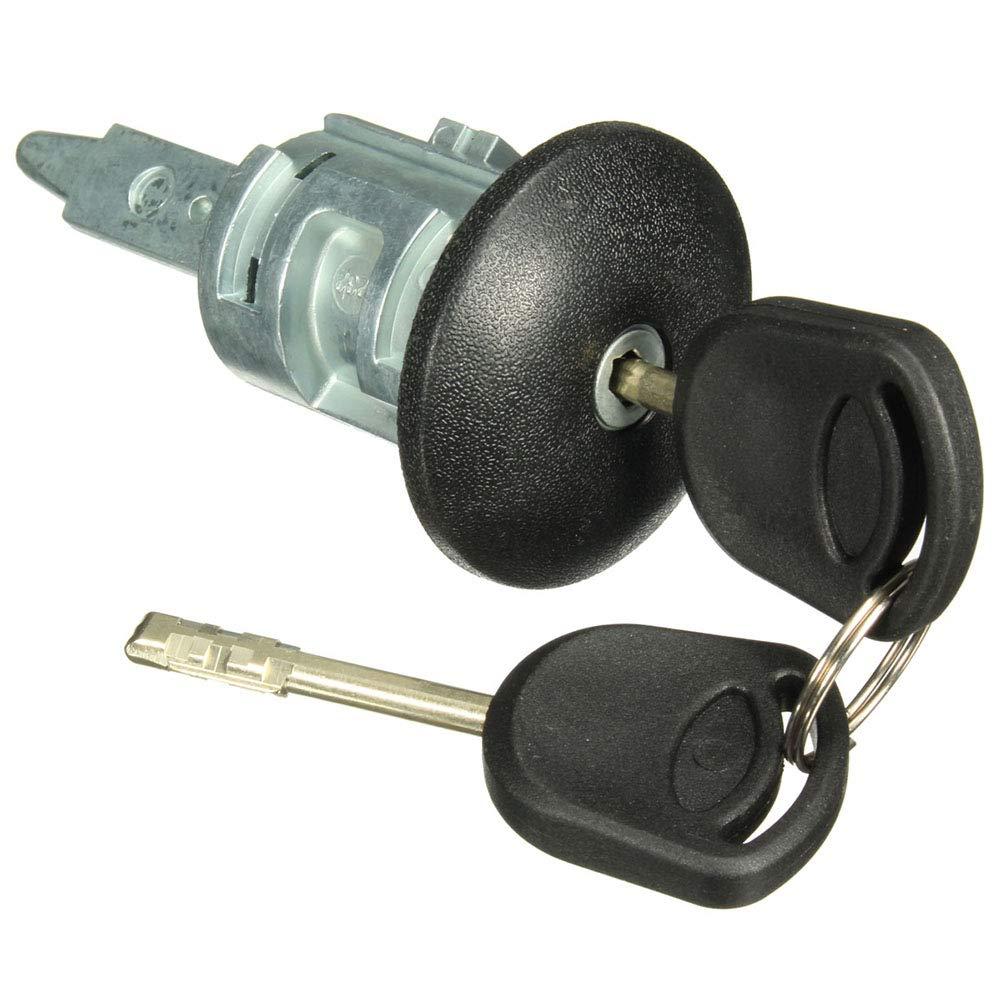 YGQersh Barillet de Serrure de Porte c/ôt/é conducteur Avant Droit avec 2 cl/és pour Ford Transit MK6 00-06