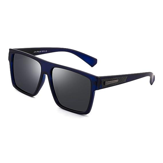 JIM HALO Retro Polarizadas Gafas de Sol Hombre Mujer Plano Top Cuadradas Conducir Anteojos