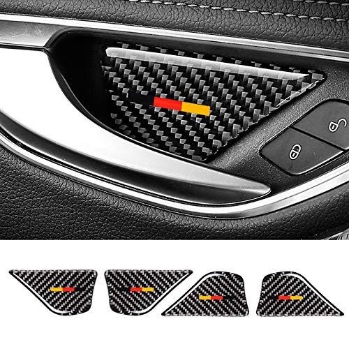 - GZXinWei Carbon Fiber Car Interior Door Handle Bowl Cover Trim Car Sticker,H Color