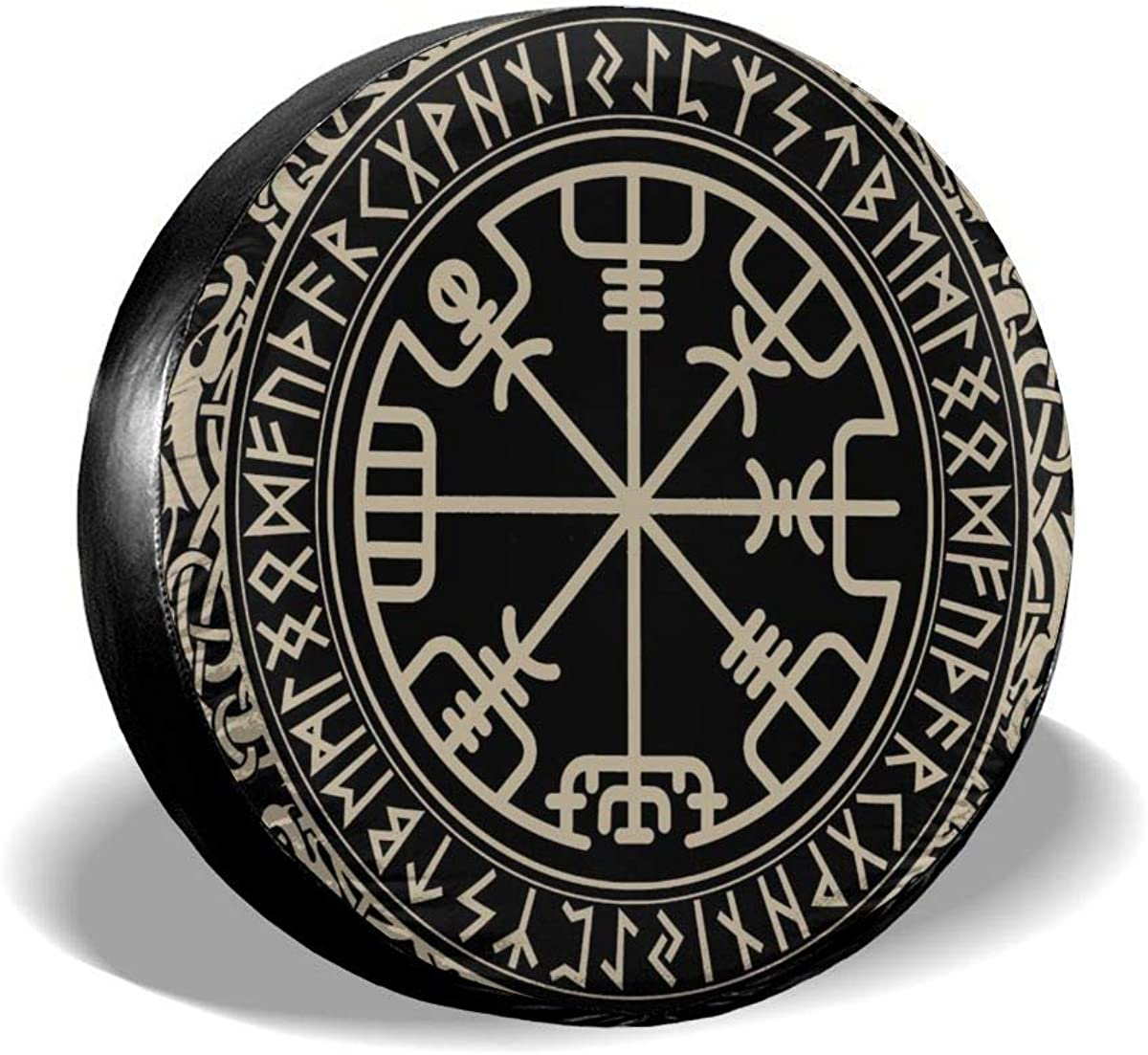 Amazon Com Pan Viking Design Magical Runic Compass Vegvisir Tire Cover Polyester Waterproof Dust Proof Universal Spare Wheel Tire Cover Fit For Jeep Trailer Rv Suv And Many Vehicle Clothing