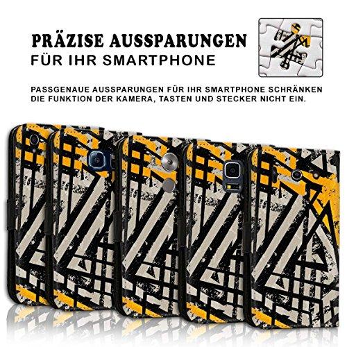 Wallet Book Style Flip Handy Tasche Case Schutz Hülle Schale Motiv Etui für Apple iPhone 6 / 6S - Design Flip MVD100