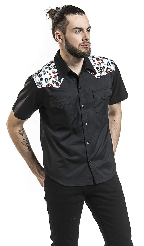 Banned Hot As Hell Mens Rockabilly Retro Shirt