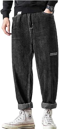 [MLboss]デニムパンツ メンズ ゆったり ジーンズ 大きいサイズ ワイドパンツ デニム カジュアル サルエルパンツ オシャレ ストレート ジーパン ファッション ストリート系 ズボン
