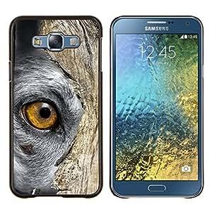 TECHCASE---Cubierta de la caja de protección para la piel dura ** Samsung Galaxy E7 E700 ** --Azul ruso Británico de Pelo Corto Chartreux