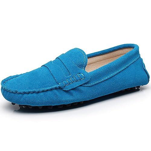 Jamron Mujer Clásico Gamuza Mocasines Comodidad Hecho a Mano Zapatilla Mocasines: Amazon.es: Zapatos y complementos
