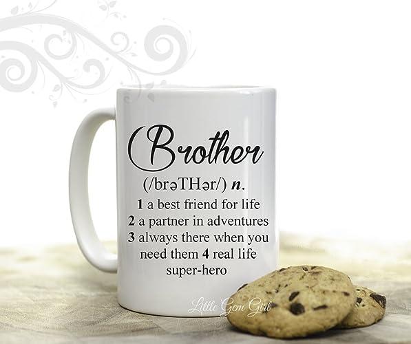 Amazon.com: Novelty Coffee Mug Brother Dictionary Definition ...