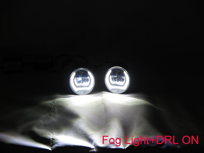 CABI Z12 CUBE 2009 2014 Third generation Hatchback 5D LED DRL Daytime Running Fog Light Lamp for NISSAN