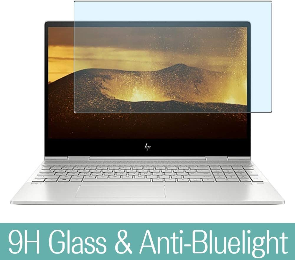 """Synvy Anti Blue Light Tempered Glass Screen Protector for HP Envy x360 15m-dr0000 / dr0012dx / dr0011dx 15.6"""" Visible Area 9H Protective Screen Film Protectors"""