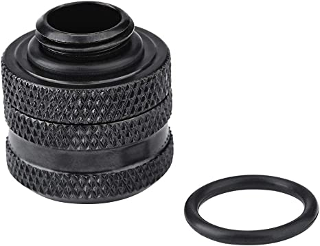ASHATA Water Cooling Compression Fittings 2 Pcs//Pack for Rigid Acrylic Tube 14mm Outer Diameter Rigid Tube Water Cooling Fittings,Four-Layer Seal Rings Durable