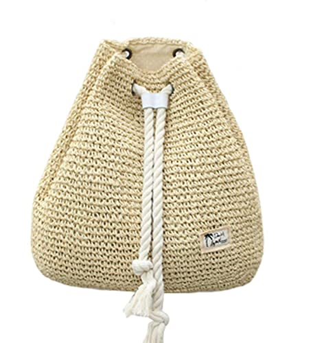 Amazon.com: Tonwhar Campus Fashion Straw bolsa de hombro ...