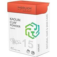 Kaolin Clay Powder by Merlion Naturals | Kaolinite | 227gm/ 8OZ/ 1/2lb | 100% Natural
