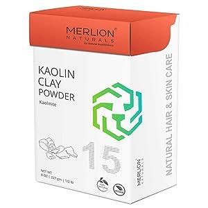 Kaolin Clay Powder by Merlion Naturals   Kaolinite   227gm/ 8OZ/ 1/2lb   100% Natural
