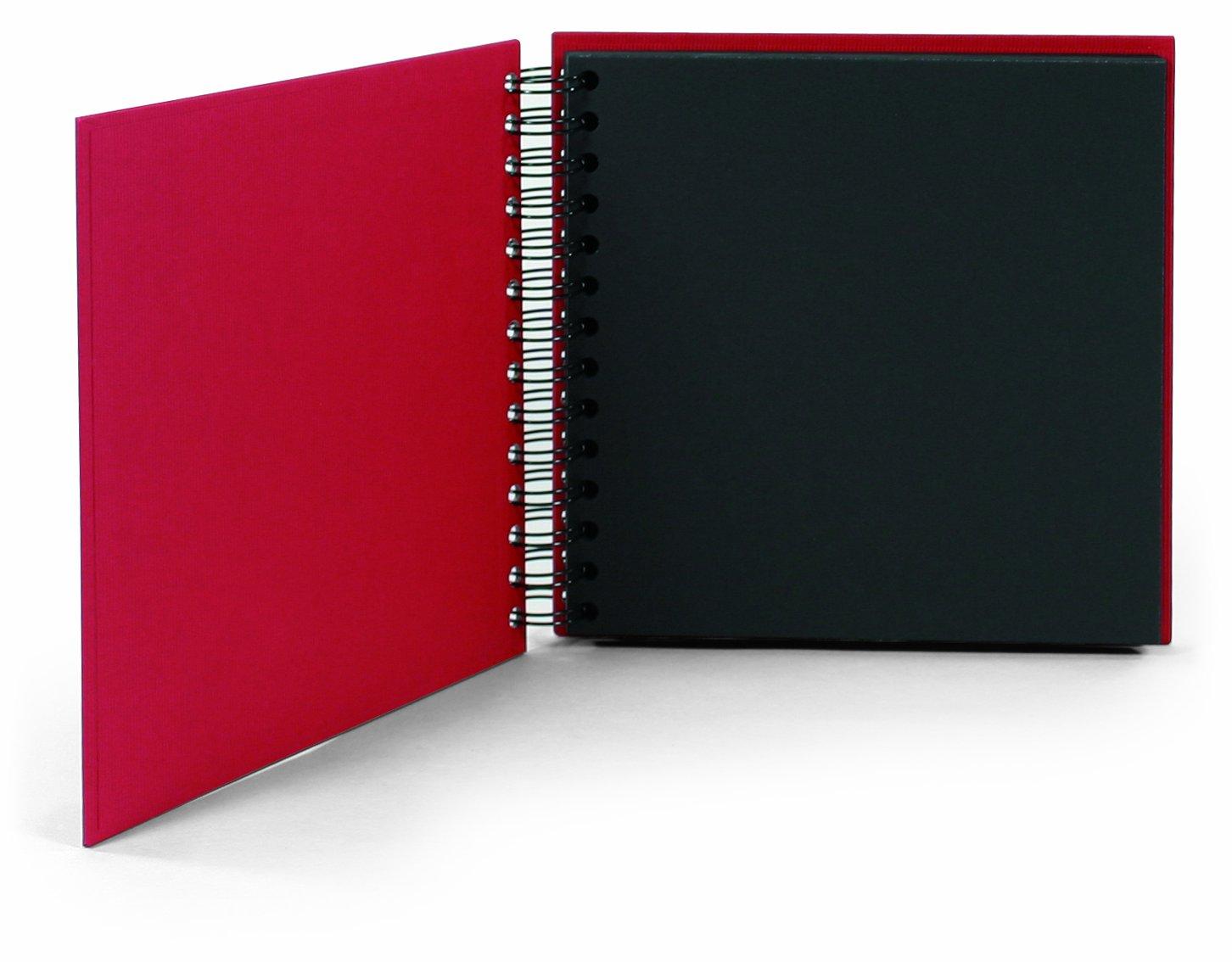 Rössler Soho - Álbum de fotos con espiral (180 x 180mm, 60 hojas), color rojo Rssler Papier 1329452365