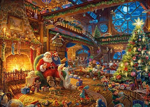 Gibsons Kinkade Santa's Workshop Jigsaw Puzzle (1000 Pieces)