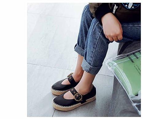 Scarpe da donna con chiusura a punta Scarpe Estate Mary Jean Suola spessa  suola Scarpe casual Scarpe con fibbia in metallo  Amazon.it  Sport e tempo  libero 447e32ff53f