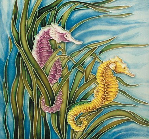 Seahorse - Decorative Ceramic Art Tile - 8