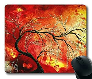 Abstract Art Floral Tree Painting Fresh Blossoms Rectangle mouse pad by Custom Service Your Best Choice