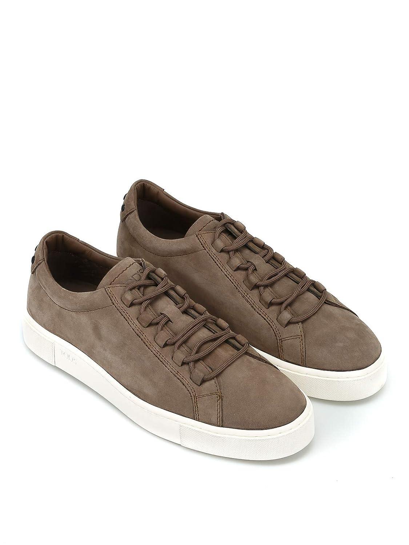 Tod s Sneaker in Nabuk Color Nocciola XXM56A0V4305IPC407 Marrone Uomo   Amazon.it  Scarpe e borse 695b16d321e