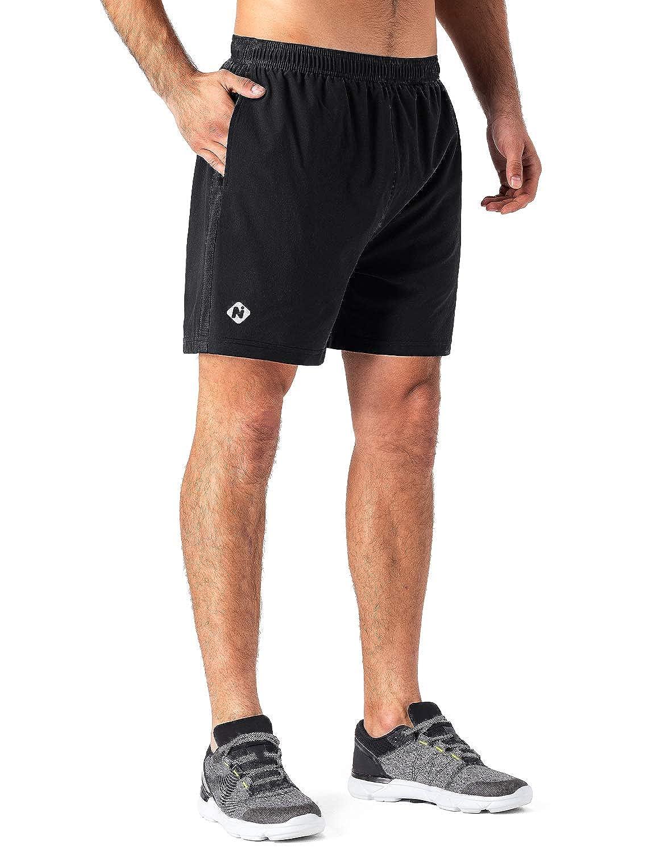 Naviskin Mens 5 Quick Dry Running Workout Shorts UPF 30 Sun Protection Outdoor Shorts Mesh Side Panels Zip Pocket