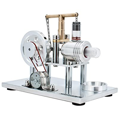DjuiinoStar Hot Air Stirling Engine, Solid Metal Construction, Electricity Generator (DHA-BG-405): Toys & Games [5Bkhe0302346]
