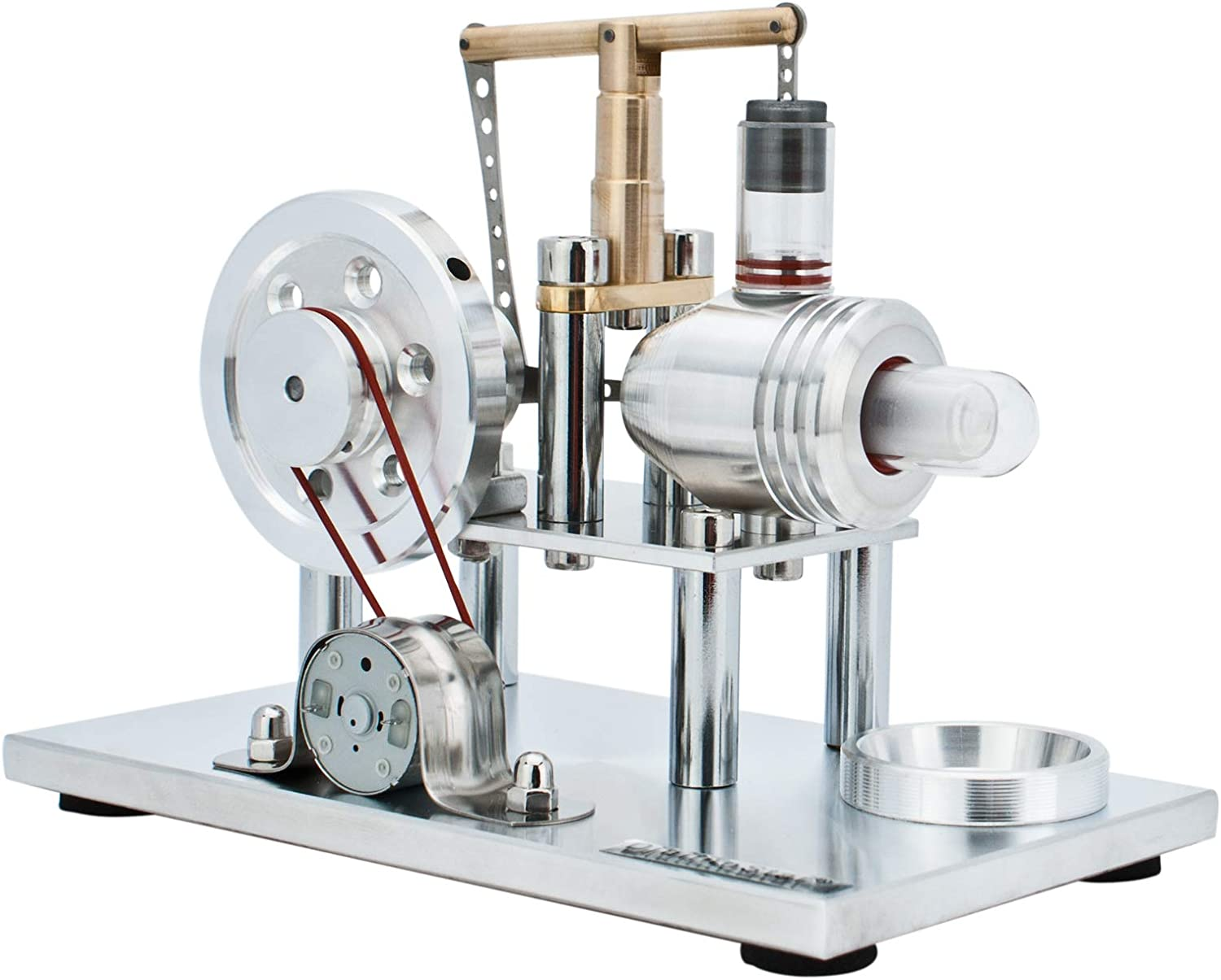 DjuiinoStar Hot Air Stirling Engine, Solid Metal Construction, Electricity Generator (DHA-BG-405)