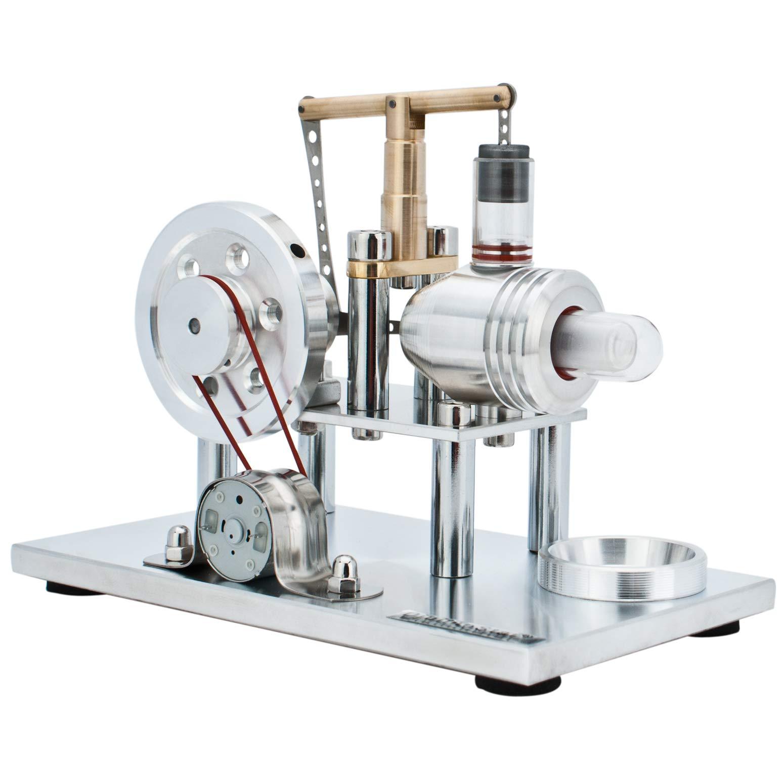 DjuiinoStar Hot Air Stirling Engine, Solid Metal Construction, Electricity Generator (DHA-BG-405)