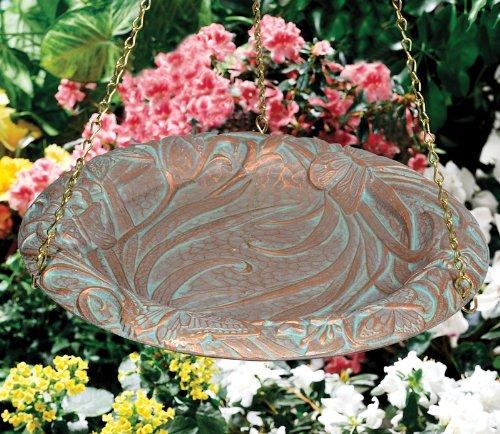 Whitehall Products Butterfly Hanging Birdbath, Oil Rub Bronze