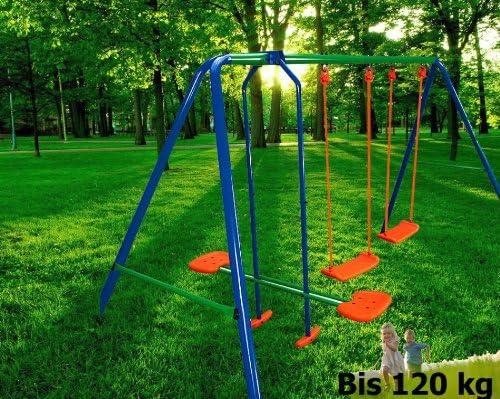 ethanol24 Columpio/de Exterior/para niños/2 Columpios 1 Caballito/para jardín o Cortile- Columpio de jardín: Amazon.es: Jardín