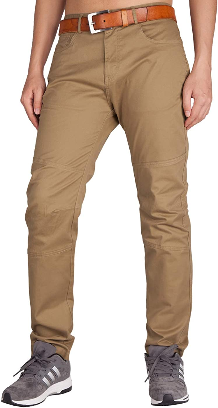 ITALYMORN Men's Flat Front Chino Pants Slim Fit Casual Wear