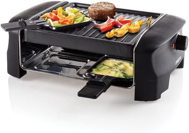 Princess 162800 Grill Party Raclette, 600 W, roestvrij staal