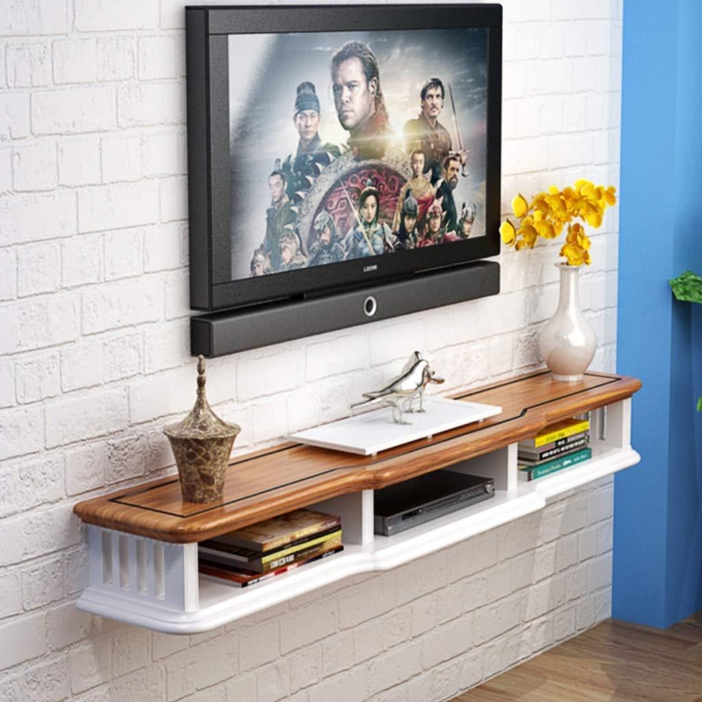 ウォールシェルフフローティングシェルフリビングルームの寝室の背景壁の装飾的な棚マルチメディア収納棚多機能ディスプレイ棚 (色 : A, サイズ さいず : 80cm) B07PCNYW2G A 80cm