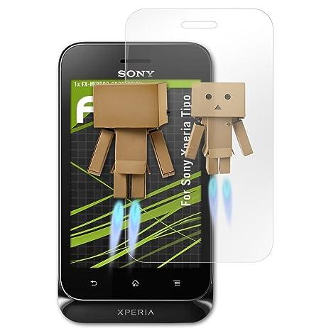 atFolix Displayfolie für Sony Xperia Tipo Spiegelfolie, Spiegeleffekt FX Schutzfolie